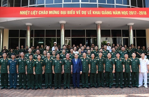 Thủ tướng Nguyễn Xuân Phúc, Nguyễn Xuân Phúc, Học viện quân sự