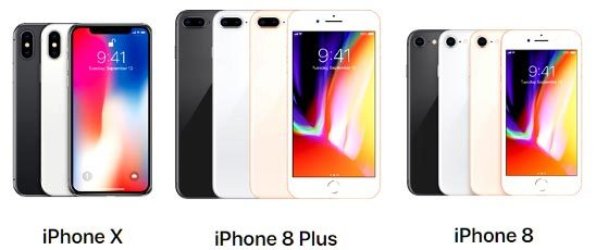 iPhone X, iPhone 8, iPhone 8 Plus, Apple, smartphone, sản phẩm mới