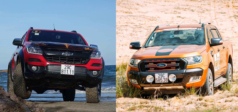 Ford Ranger, Chevrolet Colorado, xe bán tải, pick-up