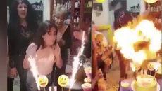 """Thổi """"nến"""" sinh nhật, bé gái bị lửa trùm người"""
