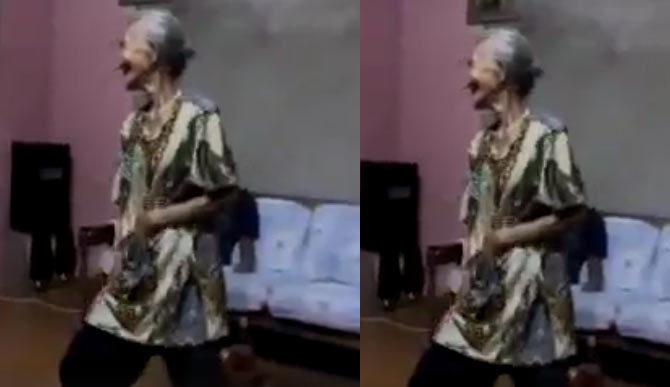 Bà ngoại xì tin quẩy tưng bừng như vũ công