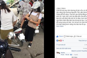 Hai cô gái gây bức xúc khi chen hàng đổ xăng với người lớn tuổi