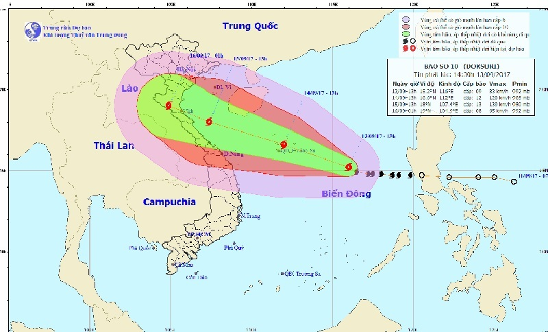 Dự báo thời tiết,  Tin bão mới nhất, Cơn bão số 10, bão số 10, tin bão mới nhất, Bão Doksuri