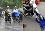 'Họa vô đơn chí' từ việc mặc áo mưa 2 mảnh đi xe máy trong mưa bão