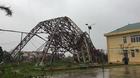 'Siêu bão' quật gãy tháp truyền hình cao 100m ở Hà Tĩnh