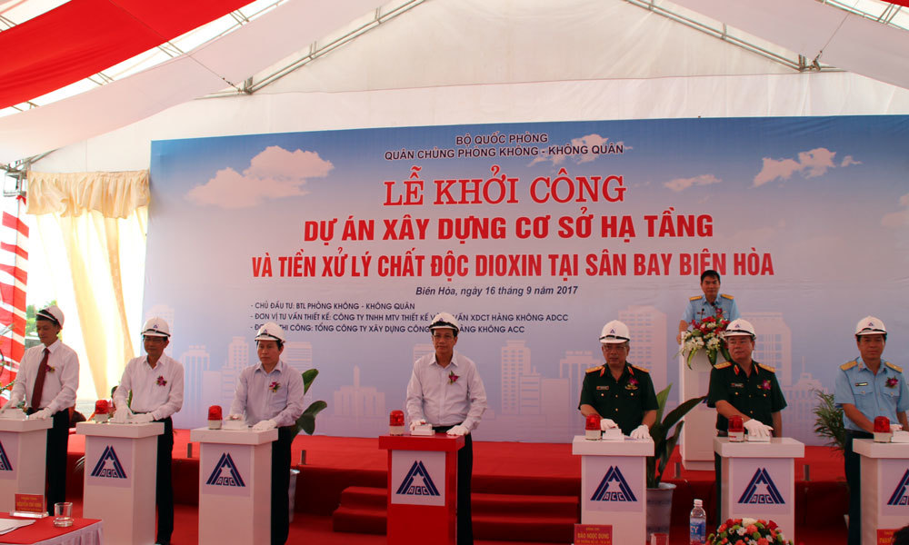 Bộ Quốc phòng khởi công dự án 270 tỷ, xử lý dioxin tại sân bay Biên Hòa