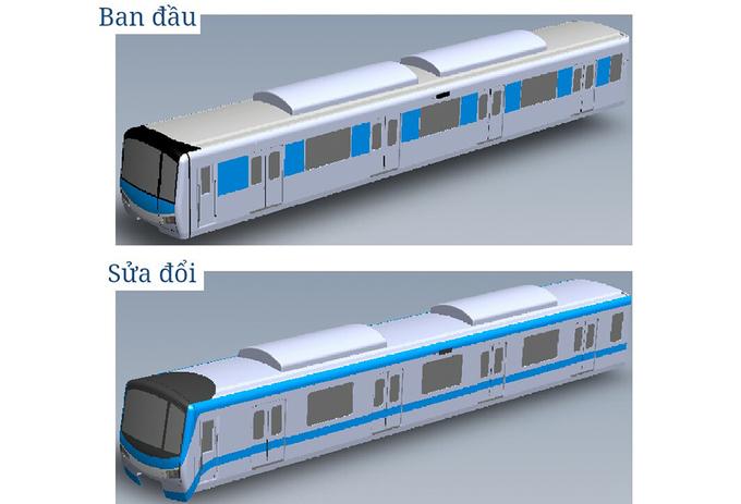 metro, tuyến metro số 1, metro Sài Gòn, thiết kế tàu metro