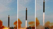 Triều Tiên công bố hình ảnh tên lửa đạn đạo vừa phóng qua Nhật