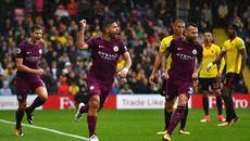Aguero lập hat-trick, Man City chiếm ngôi đầu của MU