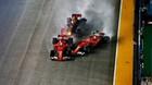 Singapore GP: Vettel vượt ẩu gây tai nạn ngay sau khi xuất phát