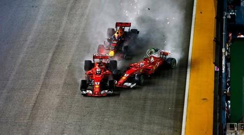 Singapore GP: Vettel, Raikkonnen, Verstappen Alonso