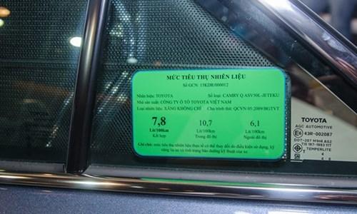 Ô tô 7-9 chỗ ngồi phải dán nhãn năng lượng từ 2018