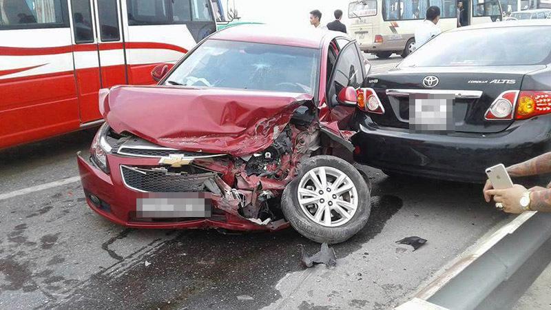 tai nạn, tai nạn giao thông, cầu Thăng Long, Hà Nội