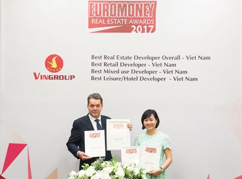 Vingroup nhận giải Nhà phát triển BĐS tốt nhất VN
