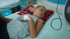 Đau lòng chứng kiến cậu bé ung thư máu mê man trên giường bệnh