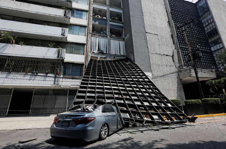 Động đất rung chuyển Mexico, 72 người thiệt mạng