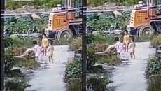 Đau đớn nhìn ba đứa trẻ chết đuối dưới ao mà không có người cứu