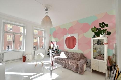 ngôi nhà mùa thu, giấy dán tường, trang trí nhà