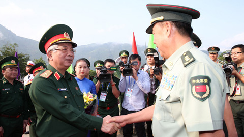 Bắt đầu giao lưu quốc phòng biên giới Việt-Trung