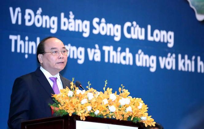 Nguyễn Xuân Phúc, Thủ tướng Nguyễn Xuân Phúc, đồng bằng sông cửu long, hạn mặn, biến đổi khí hậu, nước biển dâng
