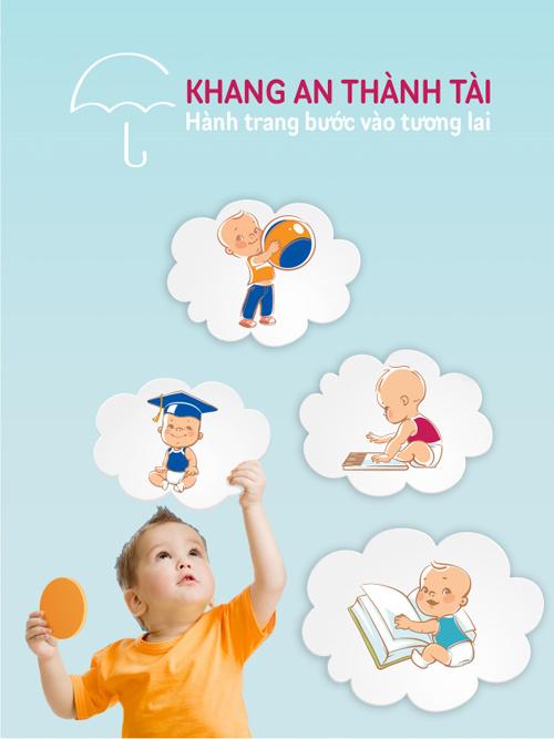 Bảo hiểm nhân thọ hỗ trợ giáo dục Khang An Thành Tài