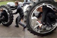 Xe máy làm bằng một chiếc lốp
