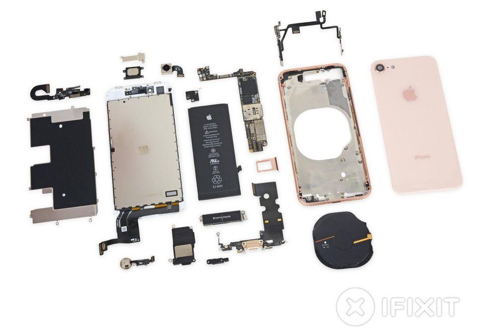 """Linh kiện iPhone 8 iphone 8 - 4 bí mật động trời ở bên trong iPhone 8 sau khi """"Mổ"""""""