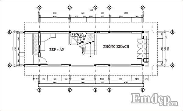 Tư vấn thiết kế xây nhà 33m2 hai phòng ngủ giúp xua tan cảm giác chật chội