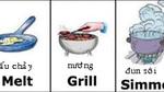 Những động từ tiếng Anh thường xuyên sử dụng trong nhà bếp