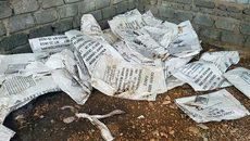 Kho hoá chất 'Made in China' phát lộ sau bão ở Quảng Bình