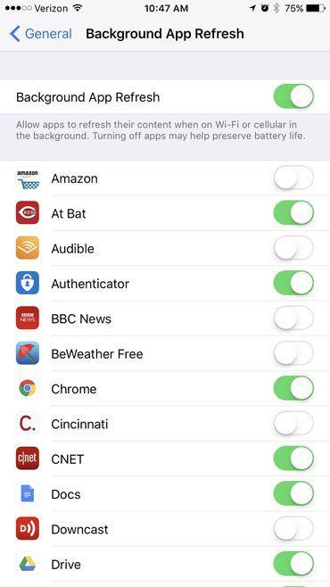 tiết kiệm pin,iOS 11