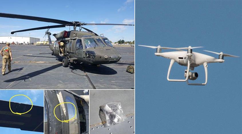 Máy bay không người lái đâm trực thăng quân sự Mỹ