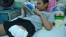 Nghị lực của cậu bé bị cắt chân vì căn bệnh ung thư xương