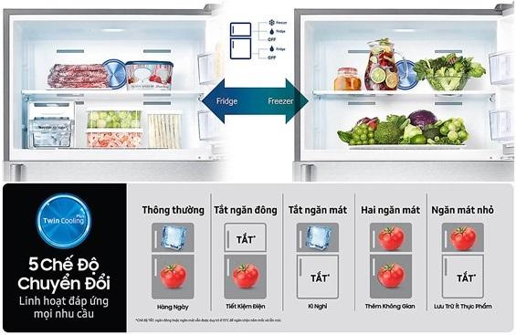 Công nghệ 2 dàn lạnh Twin Cooling Plus: Bí quyết giúp thực phẩm tươi ngon