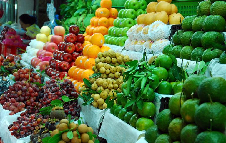 hoa quả tăng giá, hoa quả nhập khẩu, hoa quả Thái Lan, thanh long, sầu riêng, nông sản Việt