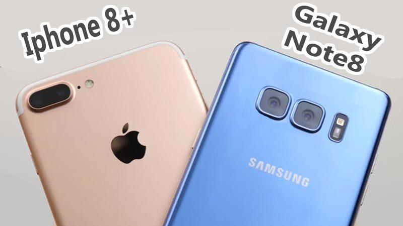 iPhone 8 Plus, Galaxy Note 8, Apple, Samsung, smartphone, camera smartphone