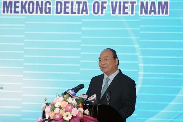 Thủ tướng Nguyễn Xuân Phúc,Nguyễn Xuân Phúc,đồng băng sông Cửu Long,biến đổi khí hậu,xâm nhập mặn,sạt lở bờ biển