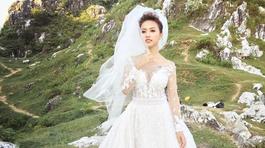 MC Thanh Vân Hugo khoe ảnh mặc áo cưới