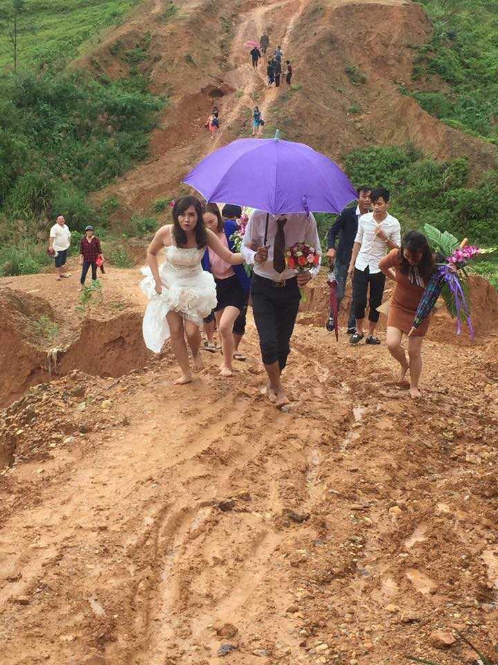 đám cưới, Hà Tĩnh, rước dâu lội bùn