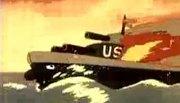 Tàu Mỹ bị tên lửa tiêu diệt trong phim hoạt hình Triều Tiên