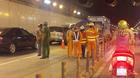 5 xe tông liên hoàn trong hầm Thủ Thiêm, giao thông ùn tắc