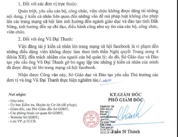 Sở GD&ĐT Đắk Nông, hiệu phó kêu cứu, facebook