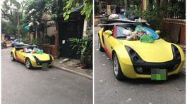 Đỗ xe thiếu ý thức, tài xế Smart Roadster nhận ngay 'món quà đắt giá'