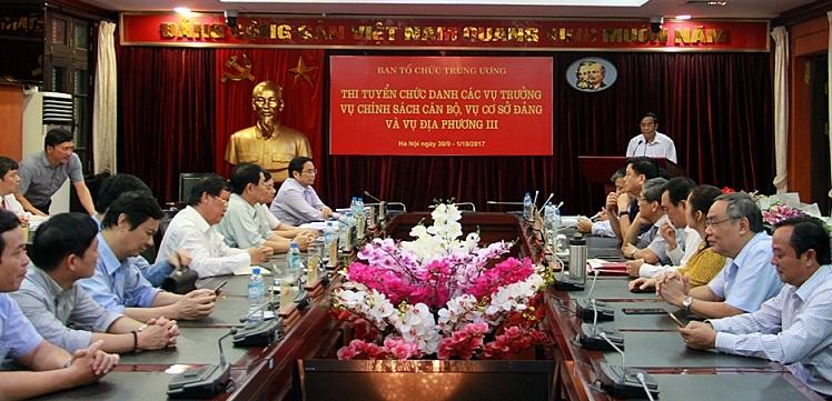 Ban Tổ chức Trung ương, thi tuyển lãnh đạo, lấy phiếu tín nhiệm