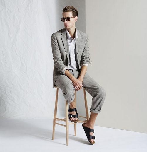 Mách bạn cách phối đồ khi diện sandal thay giày nam