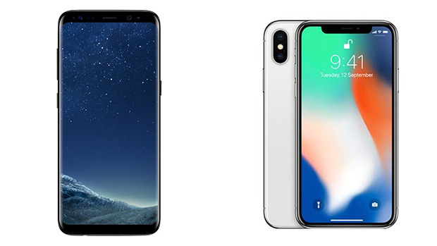 Samsung, iPhone X, Galaxy S8
