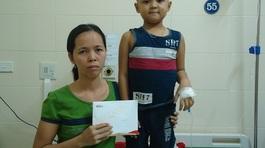 Gần 60 triệu đồng giúp đỡ em Nguyễn Võ Đức Tuấn mắc bệnh ung thư máu