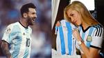 Nữ ca sĩ cổ vũ Messi giành vé World Cup
