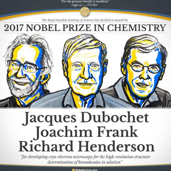 Giải Nobel 2017, Giải Nobel Hóa học 2017
