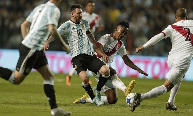 Argentina, Peru, vòng loại World Cup 2018, Messi, Sampaoli